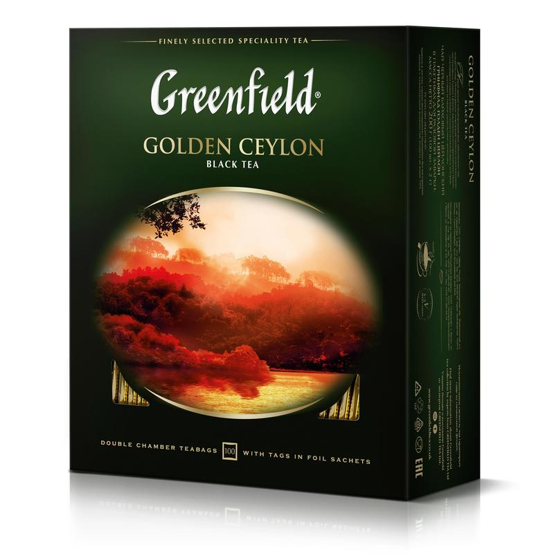 Чай черный Greenfield Golden Ceylon (100 пакетиков)